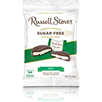 Russell Stover Sugar Free Dark Chocolate Mint Patties with Stevia, 3 Ounce Bag