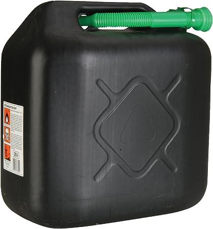 Unitec 73852 Benzinkanister 20 L Robuster Kunststoff Schwarz Benzinkanister Für Treibstoff Aller Art Mit Un Zulassung Inklusive Ausgießer Auto