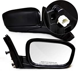 Manual Remote Mirror For 2003-2007 Ford Focus Front Driver Side Textured Black