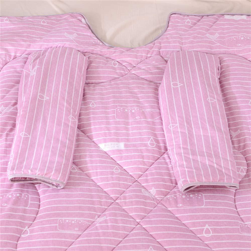 200cm GLDMT Mode Kreative Persönlichkeit Faule Decke,Anti-Kick-Steppdecke Studentenwohnheim Eng anliegend Chemische Fasersteppdecke,150 Bettdecken & Bettbezüge