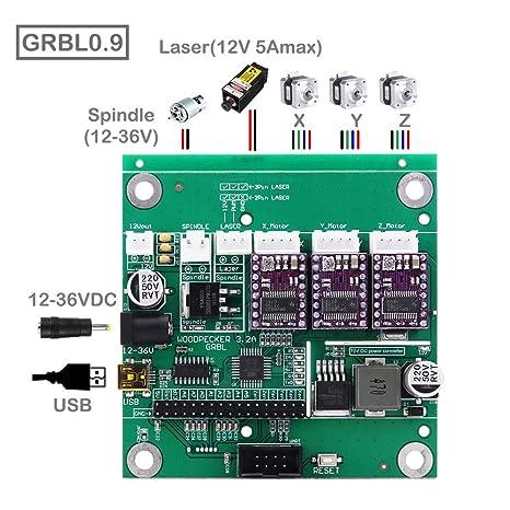 3 Axis GRBL 0 9J CNC Control Board for 1610/2418/3018 DIY Laser Engraving  Machine USB Connection Avec Offline Controller Pour