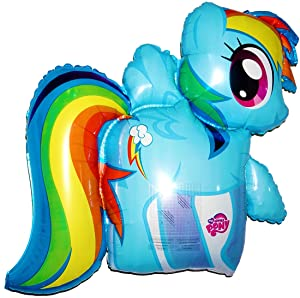 """Award Winning 28"""" MY LITTLE PONY (RAINBOW DASH) Anti-Gravity Hover & Drift in Mid-Air with""""NO STRINGS ATTACHED""""! FUN for all Ages! Includes Weights for Easy Height Control. The""""HIT of the PARTY!"""""""