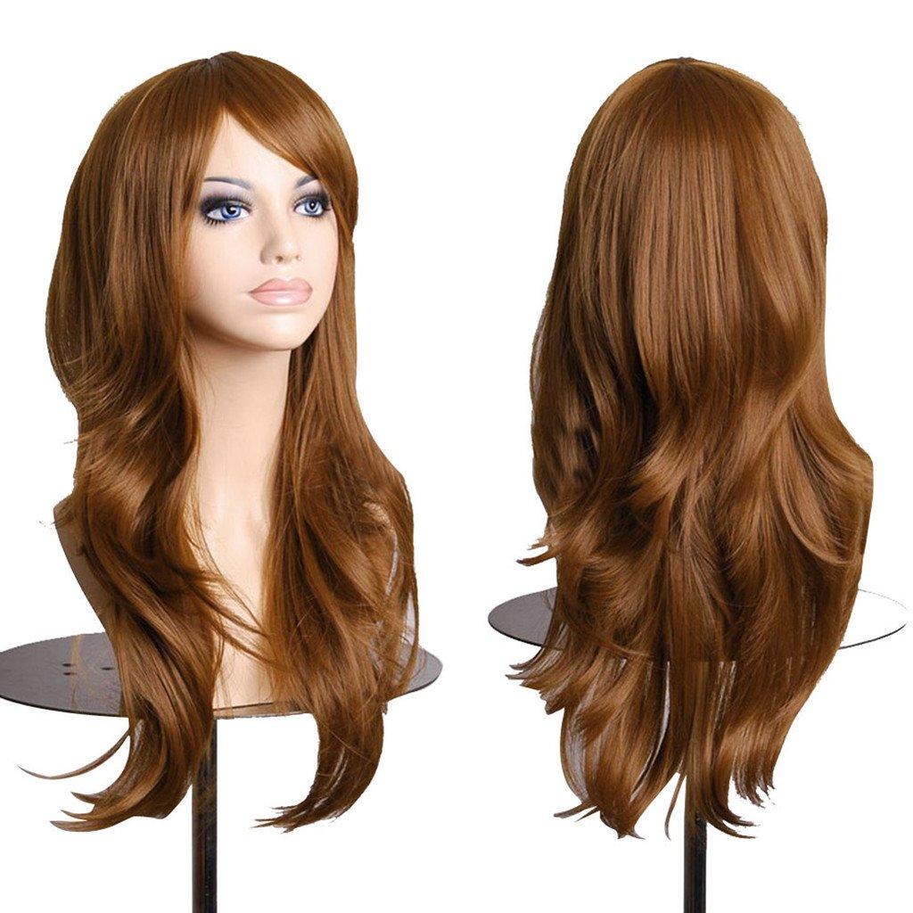 AneShe Wigs 28 Long Wavy Hair Heat Resistant Cosplay Wig for Women (Dark Brown) HongKong JayShow INC