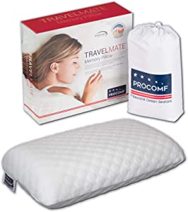 VISCO LOVE ProComf Travel and Camping Mate/Baby/Kid's/Teen's/Adult's Memory Foam Pillow