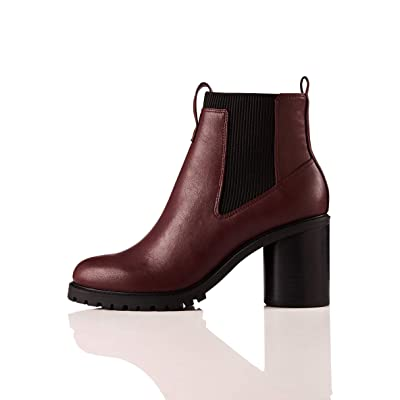 Brand - find. Chunky Sole, Women's Chelsea Heeled Boots: Shoes