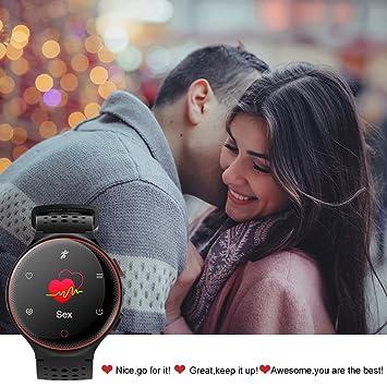 Amazon.com: ZZY X2 Deportes Pulsera Inteligente Reloj IP68 A Prueba De Agua La Presión Arterial La Frecuencia Cardíaca De Oxígeno Monitoreo Paso Redondo ...