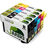 JARBO 1 Set+1 Black Replacement for Epson 200XL Ink Cartridge High Capacity, 5 Pack(2 Black 1 Cyan 1 Magenta 1 Yellow), Used in Epson XP-410 XP-300 XP-310 XP-400 XP-200 WF-2540 WF-2530 WF-2520 Printer