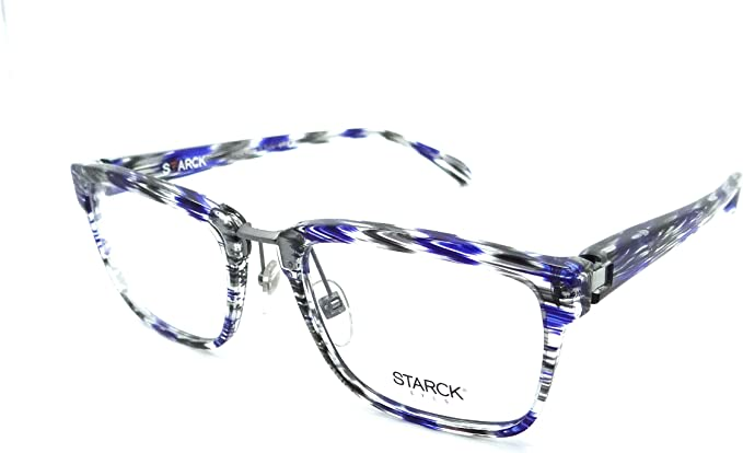 Crystal Starck Eyes Mikli Rx Eyeglasses Frames SH3037 0002 56x16 Dot Black