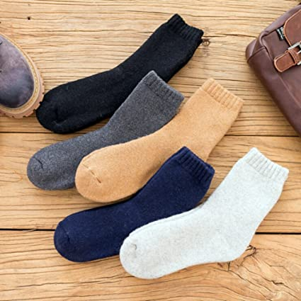 mmilelo 5 pares de calcetines Hombre Mujer Calcetines Suela de felpa Invierno Calcetines Zapatillas Calcetines Calcetines