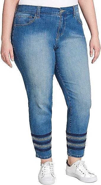 Amazon Com Tommy Hilfiger Greenwich Pantalones Vaqueros Para Mujer Talla Grande Rectos Clothing
