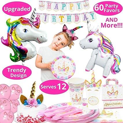 Unicorn Favors Headbands Kids Unicorn Party Supply Girls Hair Accessories 12 pc