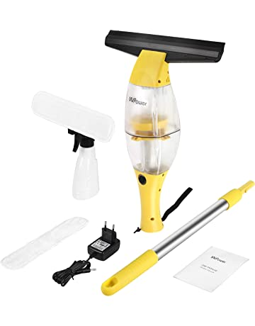 Limpiador de Ventanas MVPOWER Aspirador de Ventanas Inalámbrico con Extractor con Borde de Goma | Botella