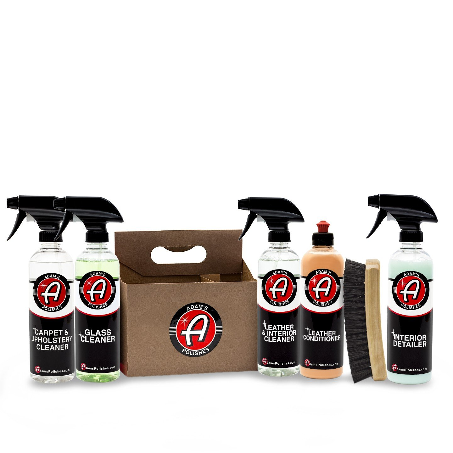 Adam's Elite 6 Pack - Our Top Selling Car Detailing Products Bundled Together - Clean, Shine & Protect Your Interior, Wheels, Tires & Paint (Interior)