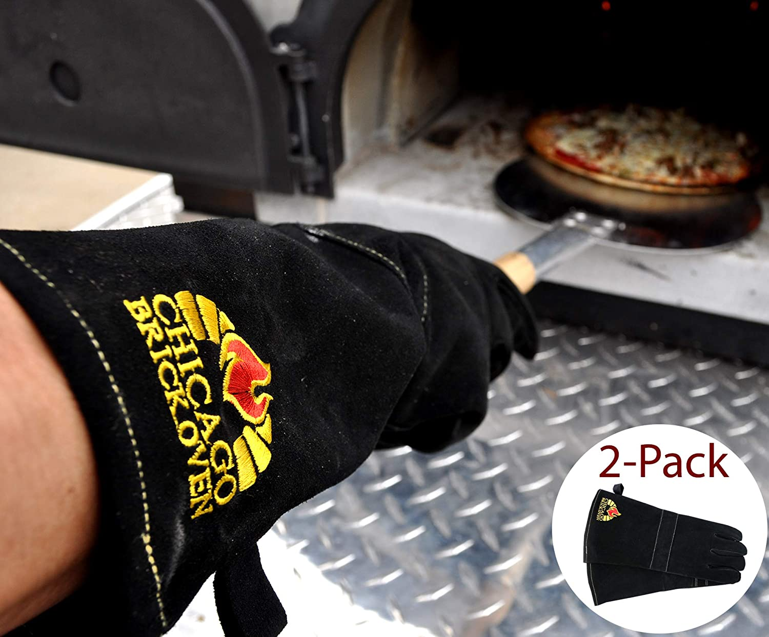 Versatile Welding BBQ Oven Gloves with Premium Cowhide Leather and Kevlar Stitching Heat Fire Resistant up to 932° F 16 Extra Long Sleeves for Safety Protection
