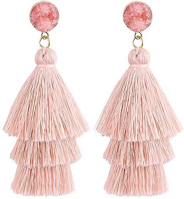 Red teardrop earrings dangle gold hoop earrings gift for mum aesthetic earrings