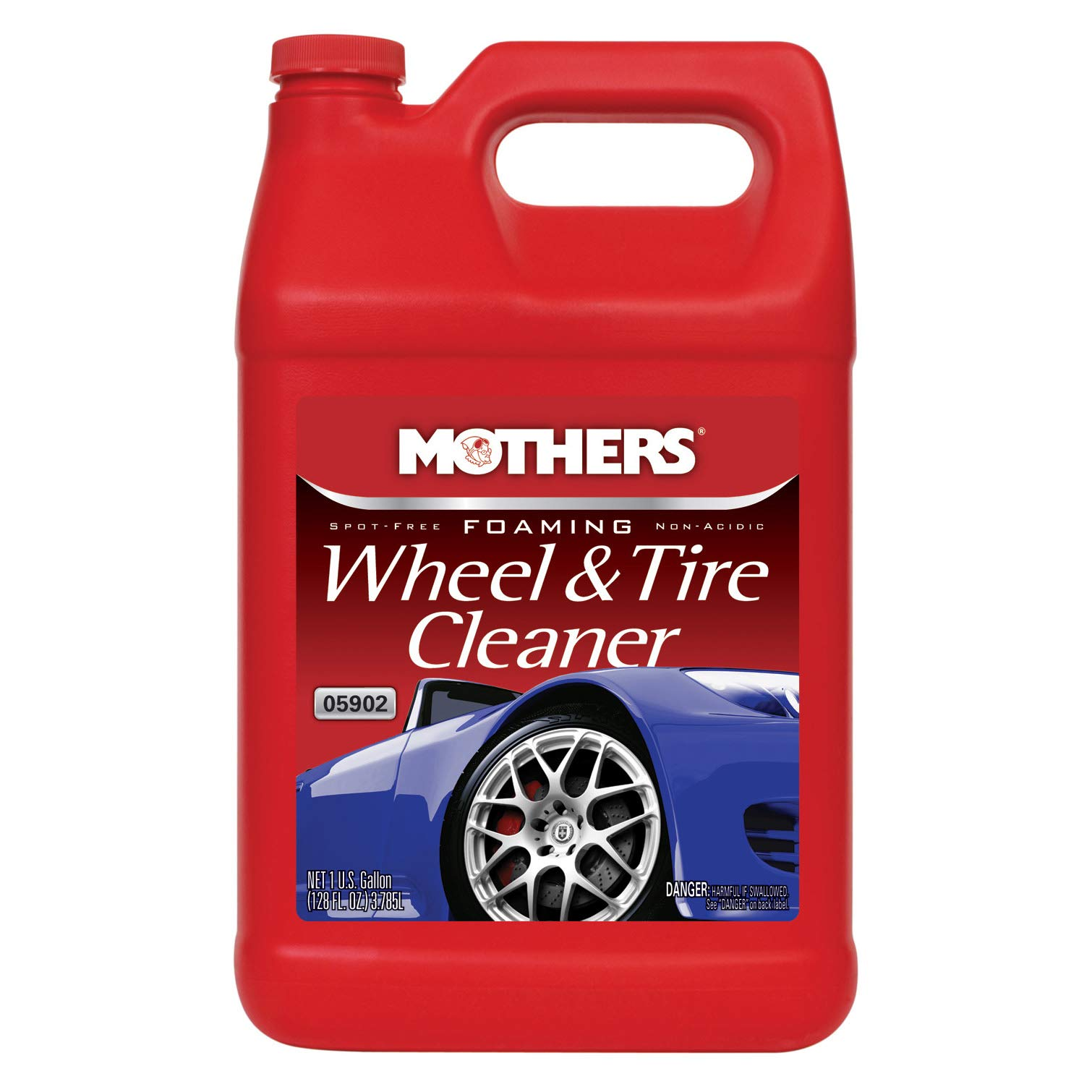 Mothers 05902 Foaming Wheel & Tire Cleaner - 1 Gallon