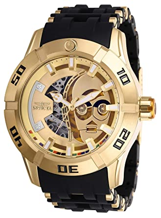 Invicta Star Wars Automatic Gold Dial Mens Watch 26550