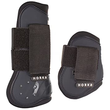 Horka Tendon and Fetlock Boots Large Black oBHfqDMR8D