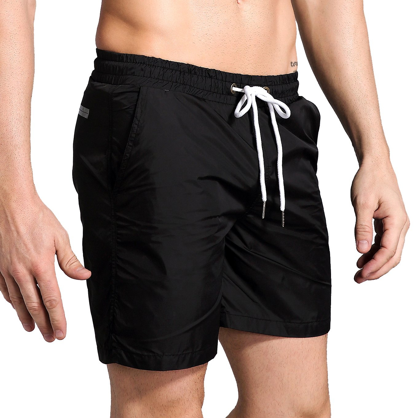 May Story Mens Quick Dry Swim Trunks Beach Shorts With Pockets For Running Swimming Surfing