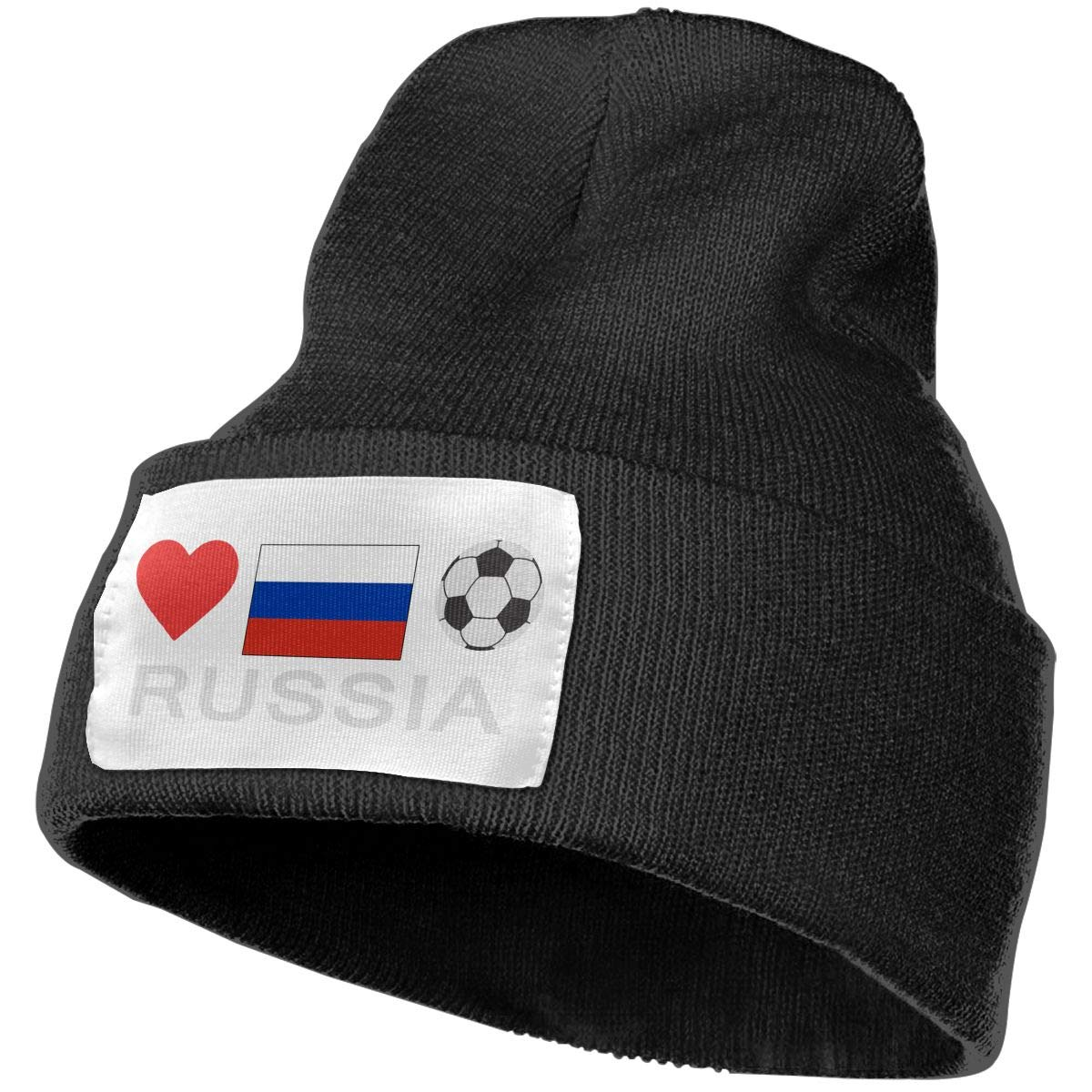 Russia Football Russia Soccer Women and Men Skull Caps Winter Warm Stretchy Knit Beanie Hats