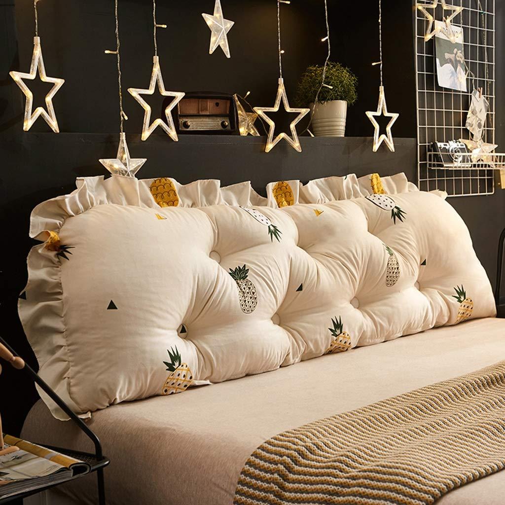 C 1201253cm QYSZYG Bedside Large Back Soft Bag Removable and Washable Waist Cushion Sofa Long Pillow Home Bedroom Bed Back Bedside Large backrest (color   B, Size   100  12  53cm)