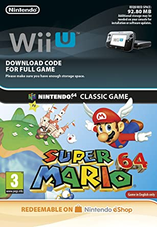 Super Mario 64 Wii U Download Code Amazon Co Uk Pc