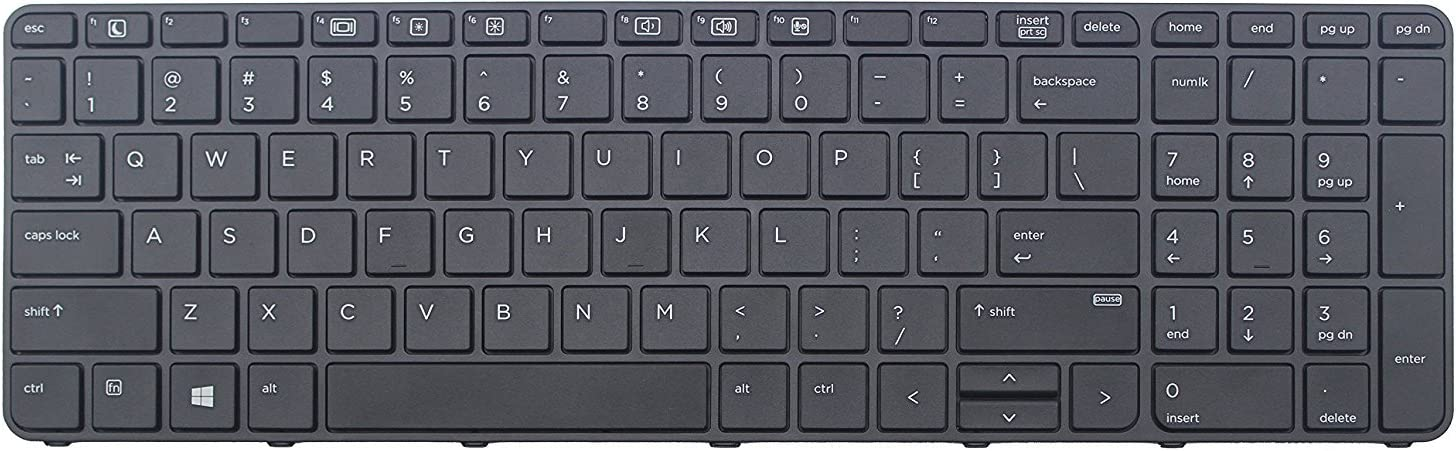 ZBOOK15 G3 Laptop Frame US Layout Without Backlight KBR Replacement Keyboard Compatable HP ProBook 450 G3 470 G3 450 G4 455 G3