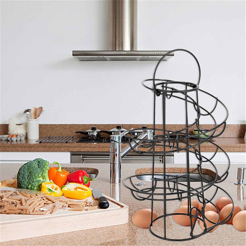 Spirale Eierkorb Multifunktionale Metall Spirale Design Eierhalter Verteilerkorb Aufbewahrung Regal Eierst/änder Rack Dekoration Zuhause K/üche Wohnzimmer