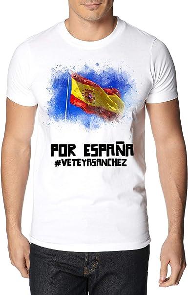 Camiseta Unisex Bandera España Vintage - T-Shirt Impresión Digital Color Blanco: Amazon.es: Ropa y accesorios