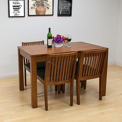 Amazon.com - Mod Made Block 5-Piece Solid Wood Dining Set ...