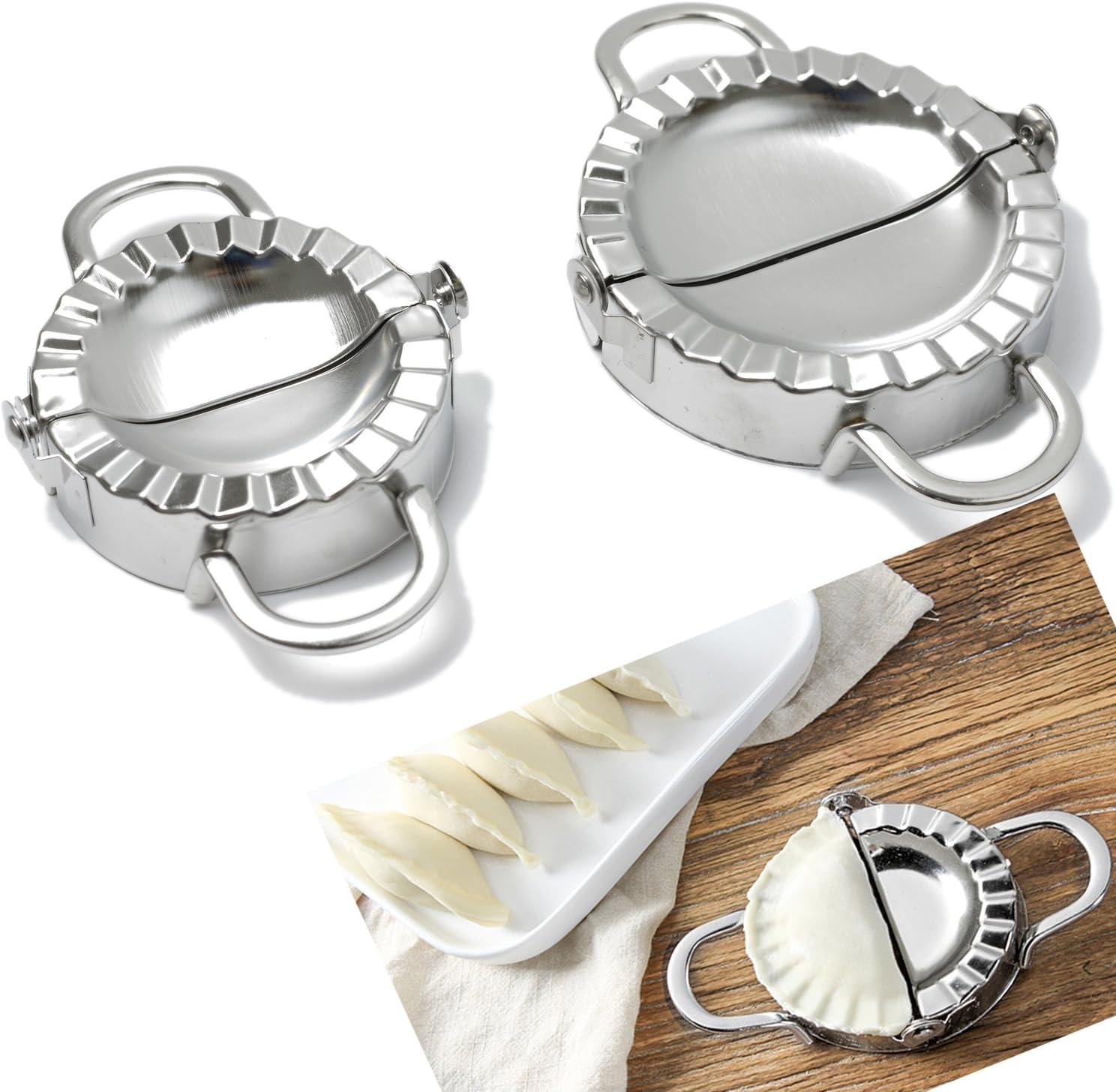 Dumpling Mould Press Meat Pie Pastry Maker Dough Cutter Tool Stainless Steel LB