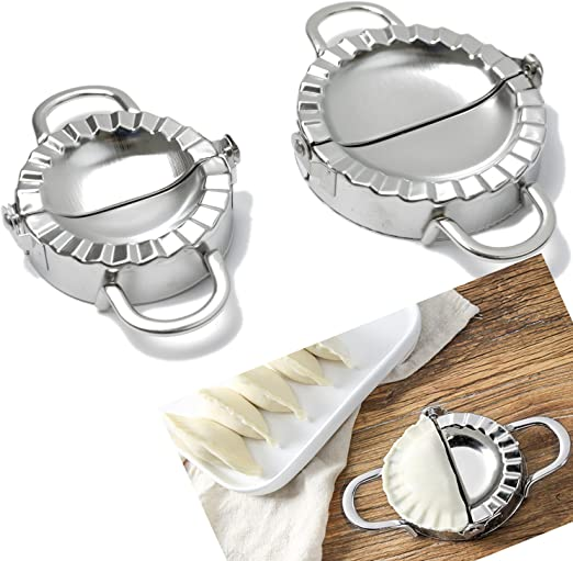 Dumpling Mold Tool Stainless Steel Dumpling Maker for Dough Pie Ravioli Press