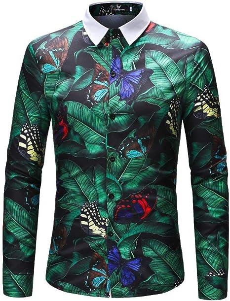 CHENS Camisa/Casual/Unisex/XXL Hombres Camisas de Flores Camisas de Manga Larga Camisas de Manga Larga Slim Fit Hombres Impresiones en 3D Otoño Primavera Casual Camisas Hawaianas para Hombre Ropa: Amazon.es: Deportes y aire