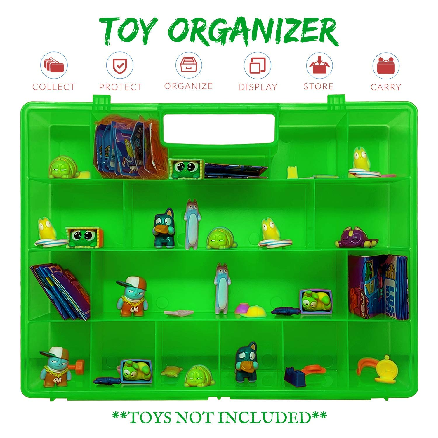 Reinforced with Durability and an Easy to Use Molded Kid Friendly Handle Life Made Better 2.0 Toy Storage Organizer Not Made by Lost Kitties Toy Storage Case Compatible with Lost Kitties