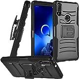 CELZEN - for Alcatel 3V (2019) 5032W - Hybrid Phone Case w/Stand/Belt Clip Holster - CV1 Black