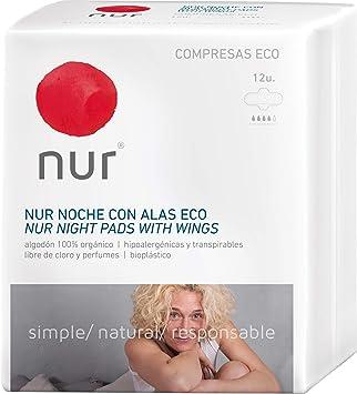 Compresas ecológicas Nur Noche Alas: Amazon.es: Salud y cuidado ...
