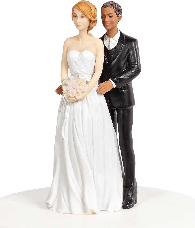 Custom Interracial Ethnic Wedding Cake Toppers