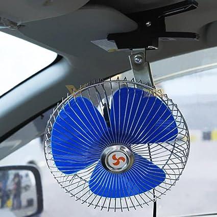 HOMYY Ventilador de coche oscilante con enchufe para encendedor de cigarrillos montado en el salpicadero Mini ventilador de coche para salpicadero portátil: Amazon.es: Coche y moto