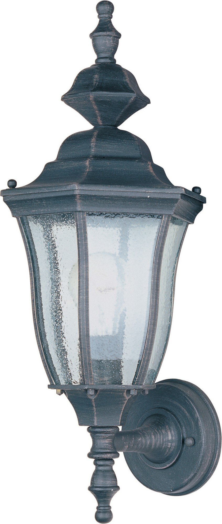 Maxim 1012RP Madrona Cast 1-Light Outdoor Wall Lantern, Rust Patina Finish, Seedy Glass, MB Incandescent Incandescent Bulb , 100W Max., Dry Safety Rating, Standard Dimmable, Glass Shade Material, 10350 Rated Lumens