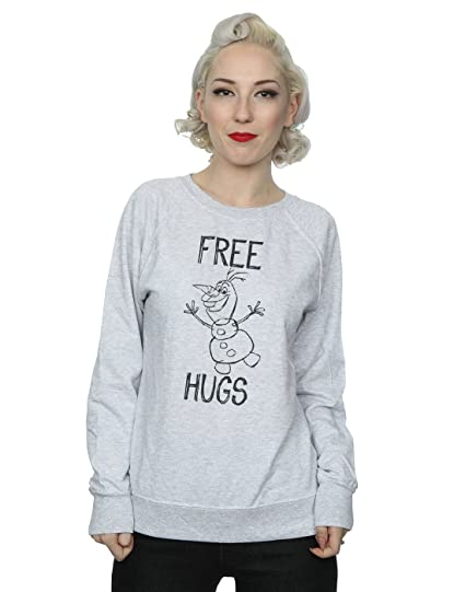 Disney Femme Frozen Olaf Free Hugs Sweat-Shirt  Amazon.fr  Vêtements ... 8f17629d1de5