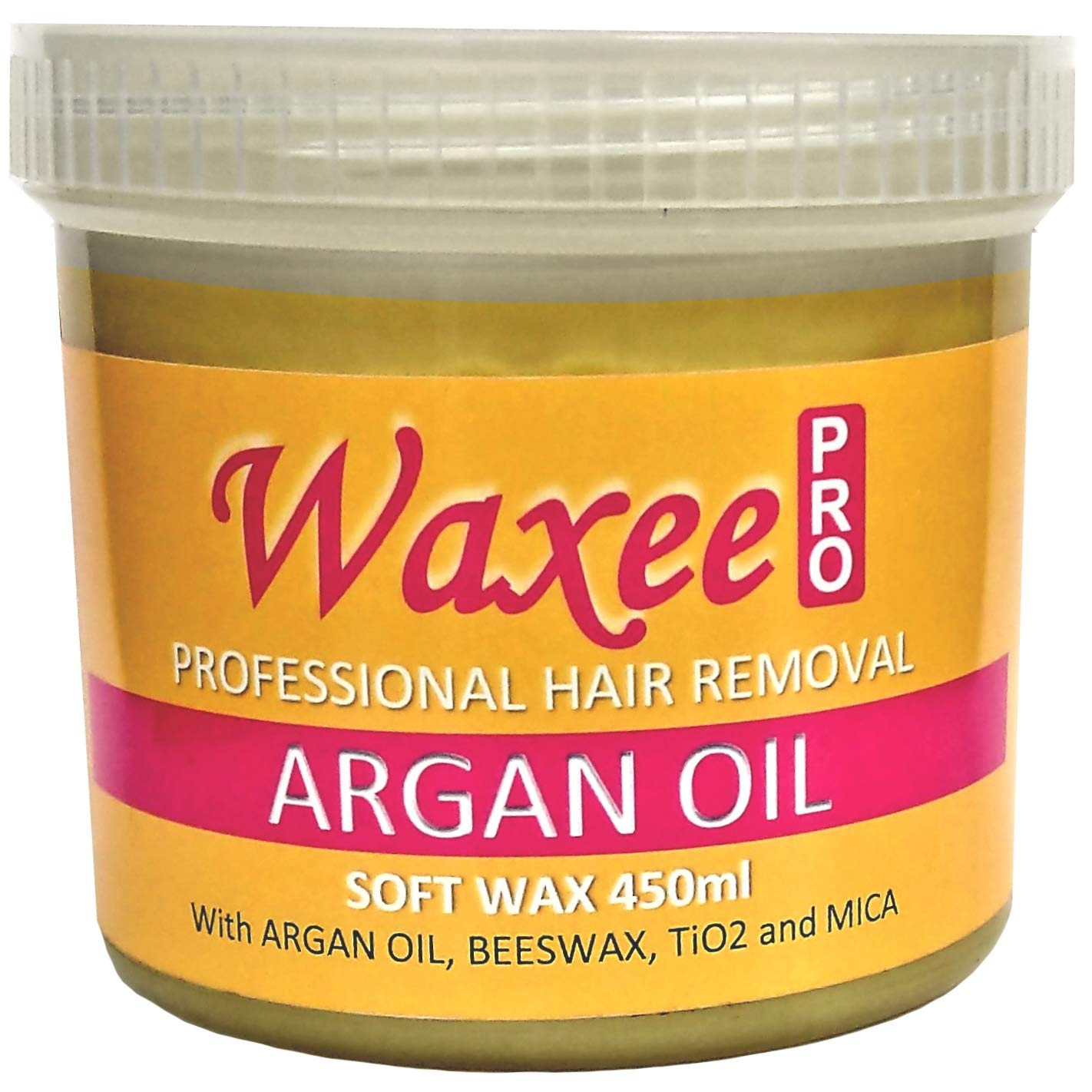 Soft pot strip wax 450ml with Natural BEESWAX, Professional hair removal. (1 x 450ml, Lavender (Top formula)) Waxee