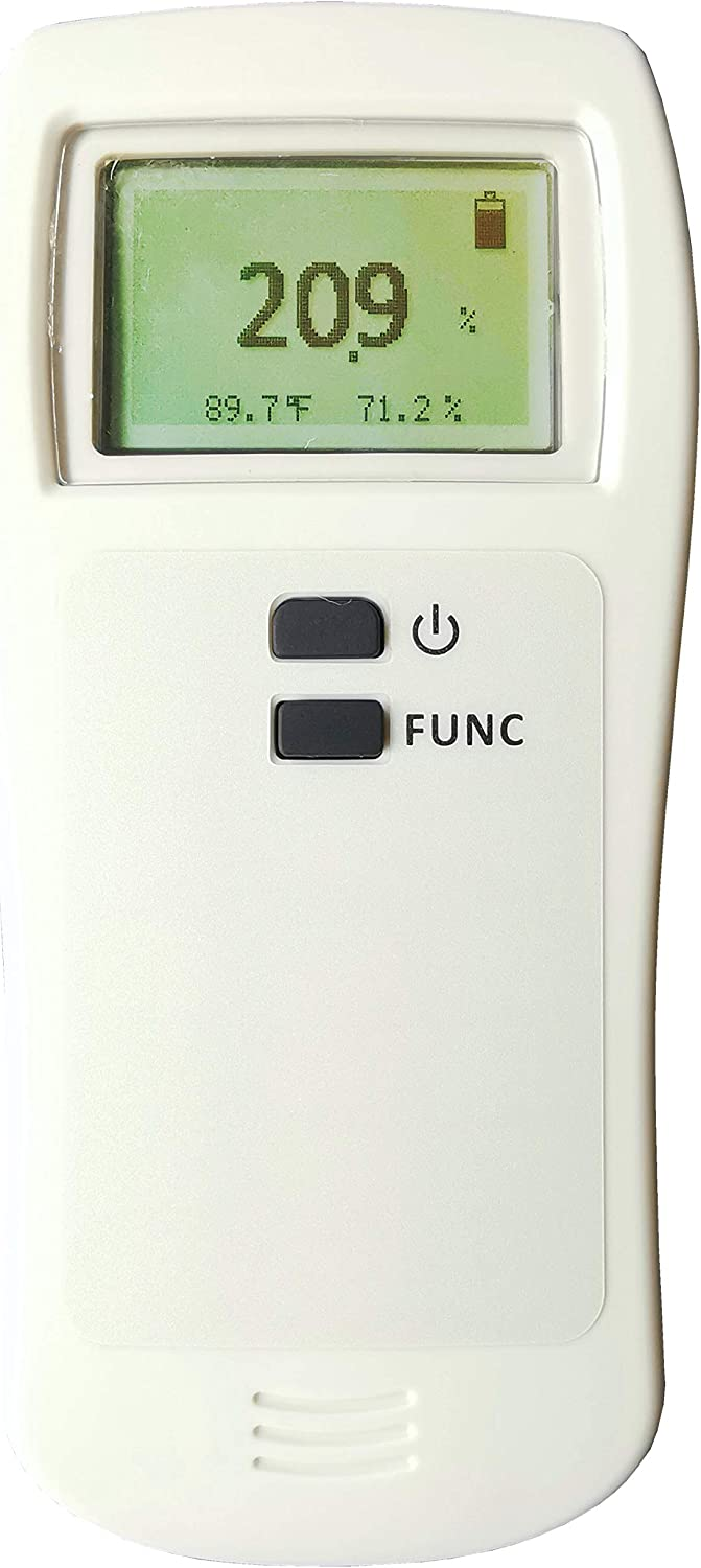 Portable O2 Gas Detector Handheld Oxygen Meter Tester Monitor with Sound Alarm 0-30/% O2