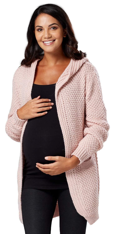 Chelsea Clark. Femme Maternité Tricoté Cardigan à Capuche Pull Ample ... 0914c2551d2