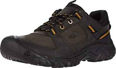 KEEN Shoes Targhee III Casual Mens Men's Casual Shoes, Black Olive Harvest Gold, 11.5 US