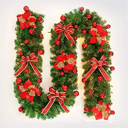 Ghirlande Di Natale.Glitzfas Ghirlanda Natalizia 2 7 M Decorazione Natalizia Ghirlanda Natalizia Per Esterni Ghirlanda Di Natale Scale Decorazioni Natalizie Rot Amazon It Casa E Cucina