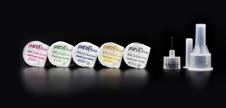 MedtFine Insulin Pen Needles (32G 4mm)