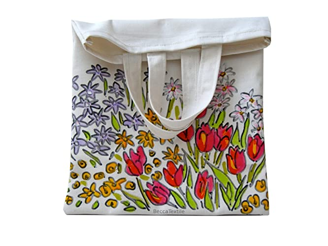 Bolso Tote,Bolsa de lona con flores, regalo especial, bolsa ...