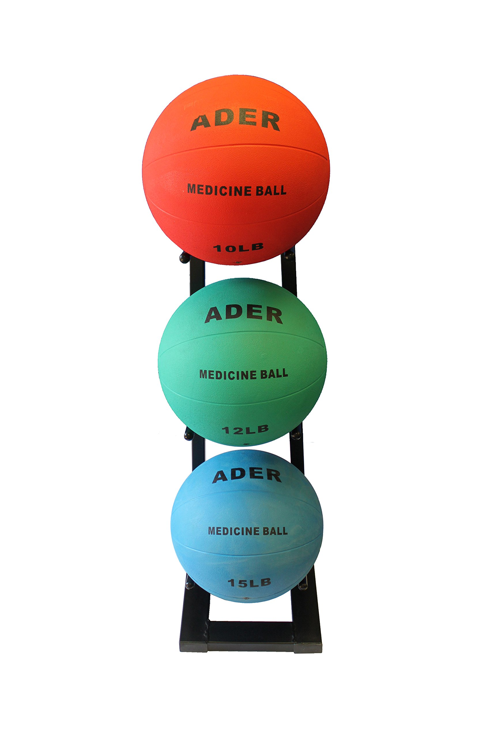 Ader Medicine Ball Set w/Rack (Rack + 8-12-25 LB Med Balls) by Ader Sporting Goods (Image #5)