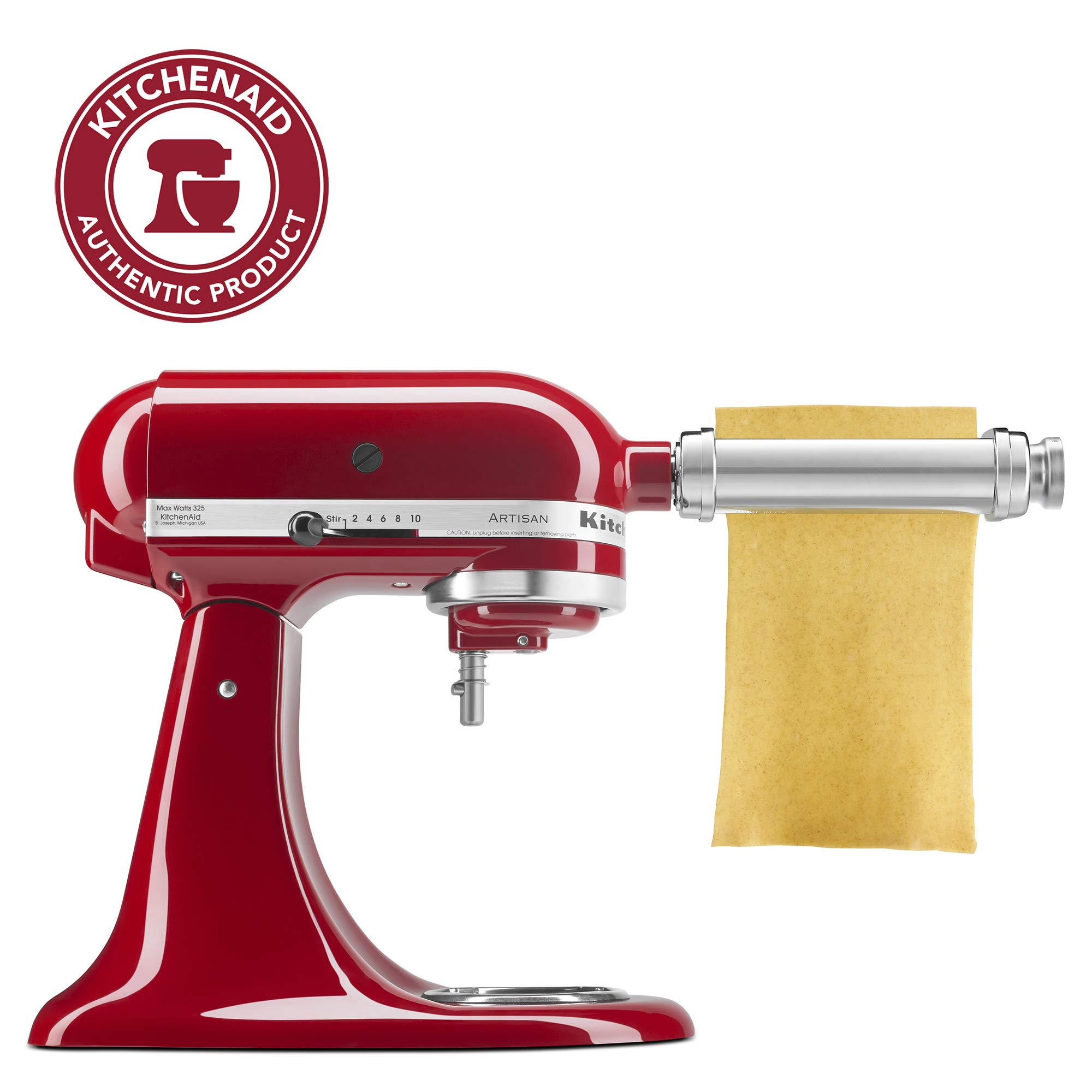KitchenAid KSMPSA Pasta Roller Attachment, Silver, 1'