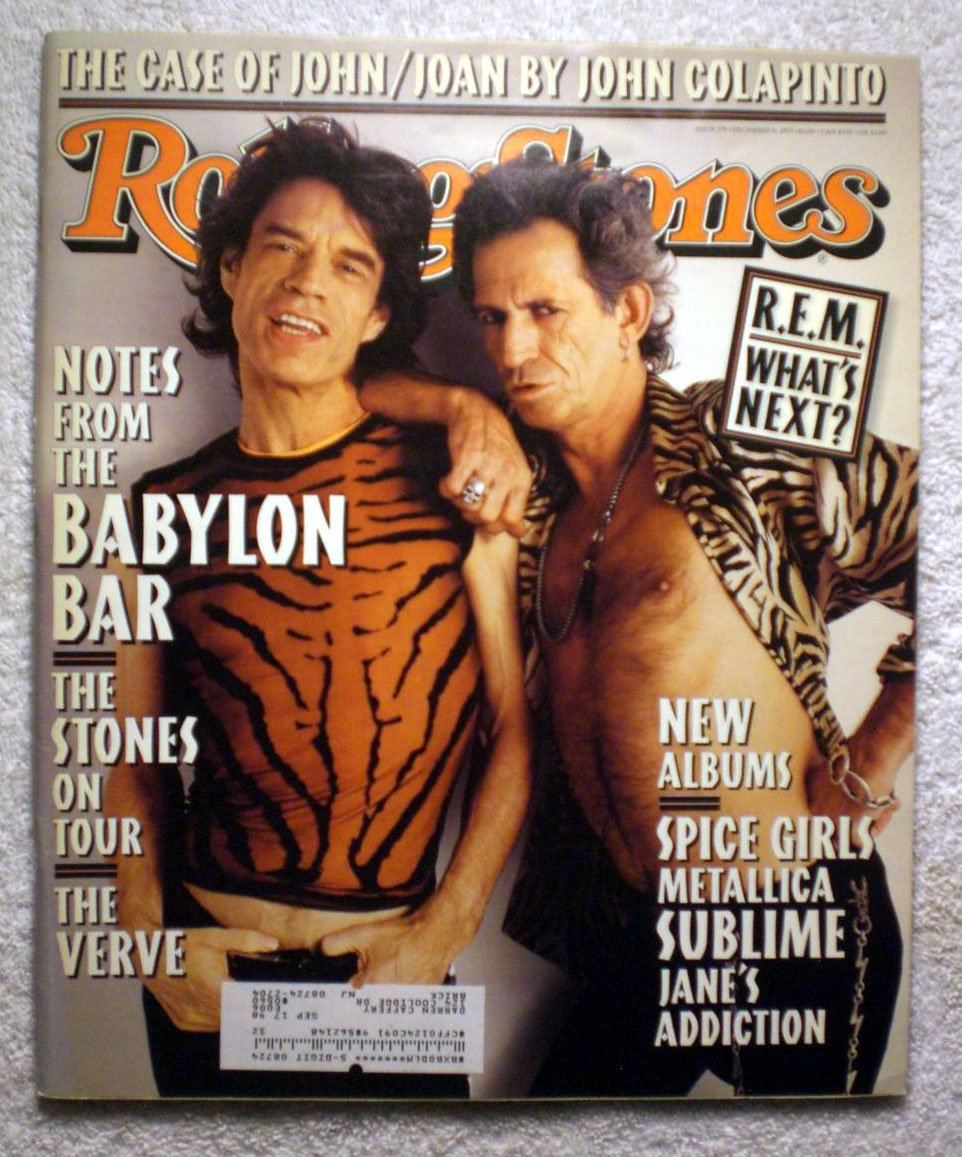 Mick Jagger & Keith Richards - The Rolling Stones - Notes from The Babylon Bar - Rolling Stone Magazine - #775 - December 11, 1997 - The Case of John/Joan, The Verve articles